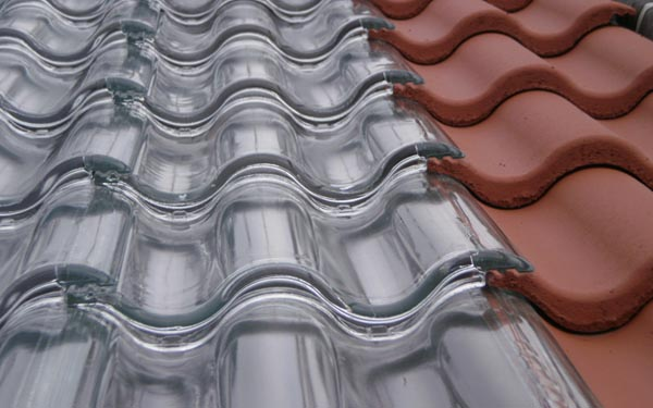 Glass Roof tiles design